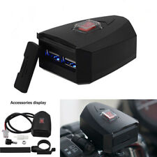 12-80V 2.4A Dual USB Motorcycle Scooter Handlebar Adapter Charger Waterproof X1