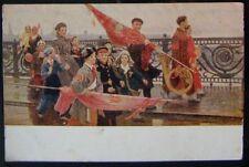 1953 SOVIET COMMUNISM POSTCARD pic. They saw Stalin Mochalsky after com 058a