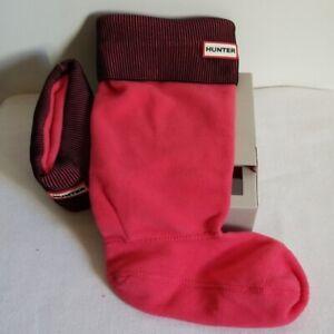 New Hunter Fleece Original Tall Cuff Boot Socks Pink Medium 5 6 7