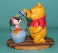 """RARE Disney Winnie the Pooh Piglet Hunny Jar Snowglobe 6"""" EUC globe"""