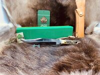 1986 Puma 6396 Bowie Knife With Stag Handles Leather Sheath G / Y Box Mint & Tag