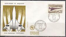 St Pierre & Miquelon Scott C40 FDC - 1969 Concorde Issue