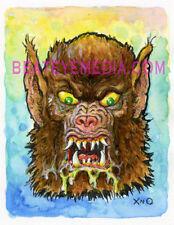 XNO ORIG ART-FRANKENSTEIN-DRACULA-WEREWOLF-ZOMBI-COMICS,HORROR,MONSTER-COMIC ART