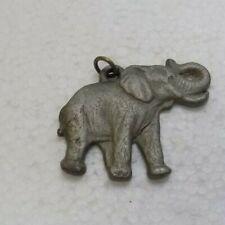 "1982 Rawcliffe Pewter Elephant Pendant - ""I Love Elephants"""