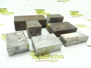 """26.5LB ASSORTED STEEL BAR STOCK 1"""" TO 2"""" THICKNESS 2"""" TO 5-3/4"""" LENGTHS"""
