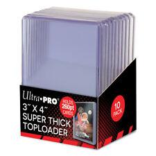 "10 Ultra PRO Thick 260pt Card Toploaders 3x4"" Topload Holders Toploader Loaders"