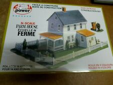 N Scale Model Power Bldg Kit 1513 Farm House