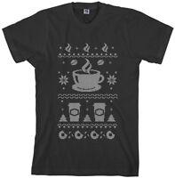 Threadrock Men's Coffee Ugly Christmas Sweater T-Shirt Gift
