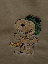 Personalized Embroidery Baby Blanket  Snoopy