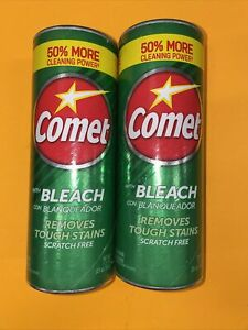 (2) Comet Cleaner With Bleach and Lemon Fresh Kitchen Bathroom Cleaner 21oz🔥