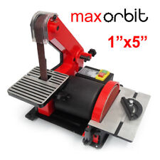 "1"" x 5""  Belt Disc Linisher Sander 300W Power Tool Grinder, Double Tilting Table"