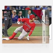 2018 Topps Now~Card #72 ~Shohei Ohtani First Career Triple Clears Bases