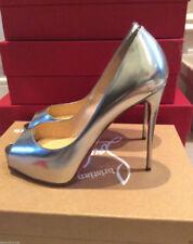 Christian Louboutin Women's 100% Leather Peep Toe Heels for Women