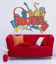 ced437 Full Color Wall decal Sticker music instruments living room cafe