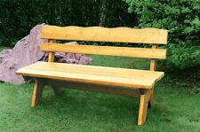 Banc banquette 4 places salon de jardin design rustique bois pin traité impré...