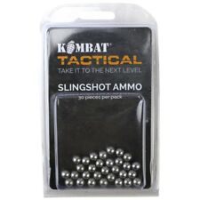 SLING SHOT AMMO x30 PIECES CATAPULT BALL BEARINGS BB STEEL HUNTING SHOOTING