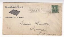 1909 Mansfield Ohio, Advertising, Ditch Adjustable Sieve Co