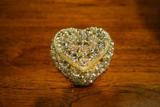 OLIVIA RIEGEL Gold Crystal Heart Box New in Box
