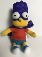 Universal Studios Bart Simpson Plush With Purple Cape