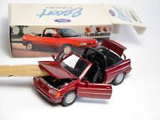 Ford Escort 5 Mk V Cabriolet Cabrio in rot rouge rosso roja, Schabak 1:43 DEALER