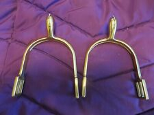 1885 Brass Cavalry Spurs with Straps new