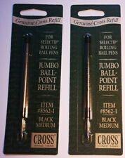 Cross 2x Refill Jumbo Ball-Point Selectip Item #8562-1 Black Ink Medium Point