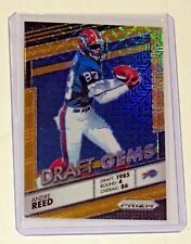 ANDRE REED 2016 PANINI PRIZM GOLD REFRACTOR SP #D /10 BILLS DRAFT GEMS WOW