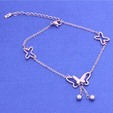 Womens Butterfly Charm Anklet Ankle Bracelet Barefoot Sandal Beach Foot Chain