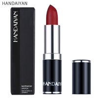 Matte Lipstick Waterproof Moisturizer Lip Makeup Purple Beauty Cosmetics