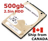 "500gb 2.5"" SATA Laptop hard disk drive ~ mixed brand ~ TESTED 100% health HDD"
