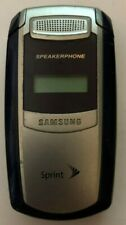Samsung SPH A580 Silver (Sprint) Cellular Phone Good Used Vintage Collector