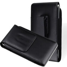 For Huawei Mate 9 5.9 & P9 Plus PU Leather Smooth Holster Belt Case Black
