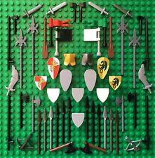 Lego KINGDOMS WEAPON SPARES Bow Spear Axe Shield Sword Flag Crossbow Castle Oar