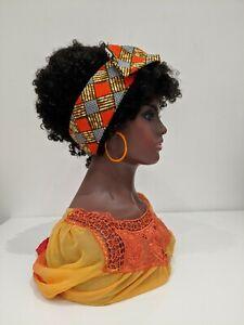 Hand made African print Cotton Wax Head Band Hair Wrap Scarf
