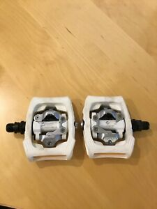 Shimano PD-T400 Aluminum Pedals - White