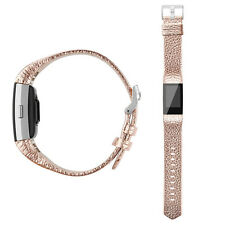 Genuine Leather Replacement Watch Band Bracelet Strap For For Fitbit Charge 2