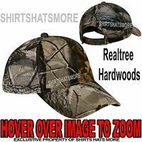 Camo MESH BACK Hat Realtree Hardwoods Hunting Trucker Baseball Cap Adjustable