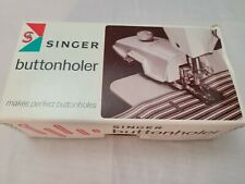 Vintage Singer Buttonholer Sewing Machine Attachment #489510 With 8 Templates