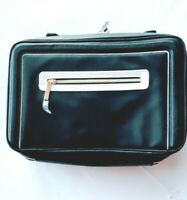 Estee Lauder Black Cosmetic Makeup Train Travel Bag with 2 Handle and Pocket Zip