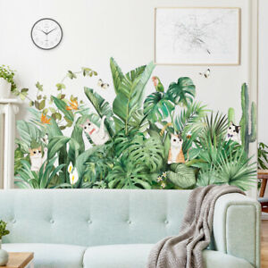 Monstera Deliciosa Wall Sticker Animals Plants Decal DIY Mural Home Decoration