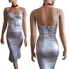 BNWT DOLCE & GABBANA D&G light blue SILK balcony fishtail DRESS size 14 10 46