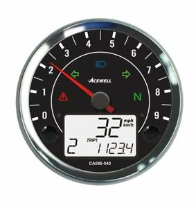 Acewell CA080-400 Speedometer with 9000RPM tachometer