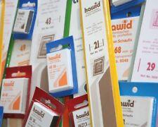 Lindner hawid® 50 Stück Zuschnitte Klemmtaschen Farbe/ Markengröße zur Auswahl