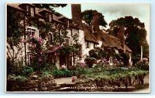 *Cottages at Lane Head Porlock Weir Somerset Uk Vintage Postcard C84