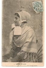 Carte postale ancienne Costume Traditionel Charollaise 1904 CPA