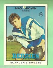 1968  CANTERBURY  SERIES 2  SCANLENS RUGBY LEAGUE CARD #39  MAX BROWN