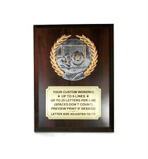 Soccer Plaque- Medallion Series- Stand-up- Custom Wording- Free Lettering