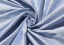 LIGHT BABY BLUE SKY 100% DUPIONI SILK FABRIC YARDAGE Quilt Sew Drapery
