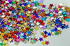 100g Small Multi Coloured Metallic Stars - Confetti,  Sequins, Spangles