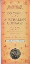 2010 Australia 100 Years of Coinage $1 Coin - Canberra 'C' Mintmark